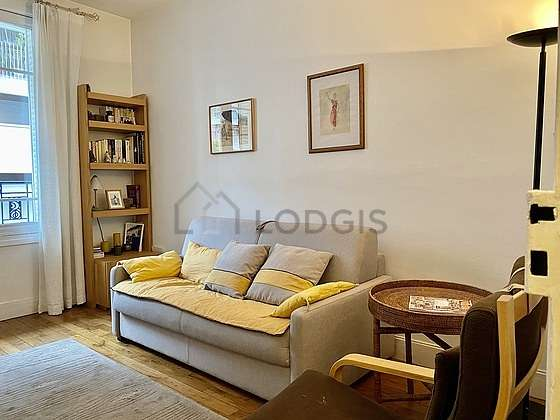 Very quiet living room furnished with 1 sofabed(s) of 160cm, tv, 1 armchair(s)