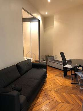 Living room furnished with 1 sofabed(s) of 140cm, tv, 1 chair(s)