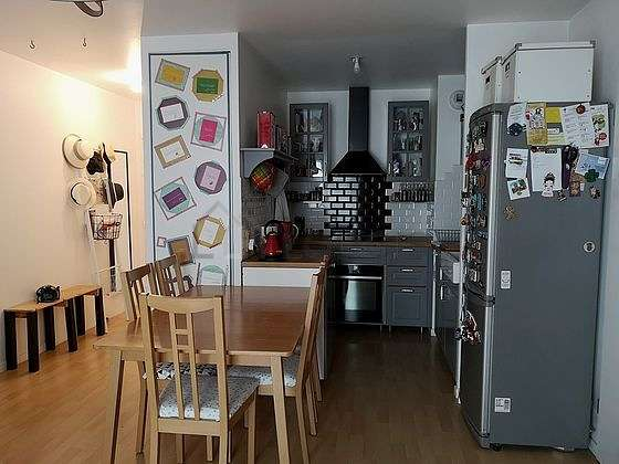 Kitchen of 5m² with woodenfloor