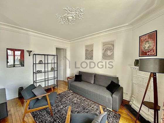 Very quiet living room furnished with 1 sofabed(s) of 140cm, home cinema, tv, fan