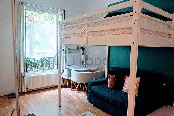 Quiet living room furnished with 1 sofabed(s) of 0cm, 1 loft bed(s) of 160cm, sofa, 1 armchair(s)