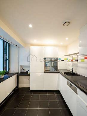 Kitchen with double-glazed windows