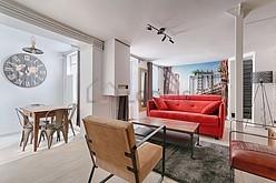 雙層公寓 巴黎12区 - 客廳