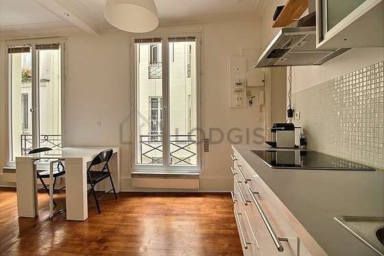 Bright kitchen with windows