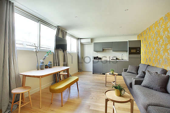 Very quiet living room furnished with 2 sofabed(s) of 140cm, tv, wardrobe