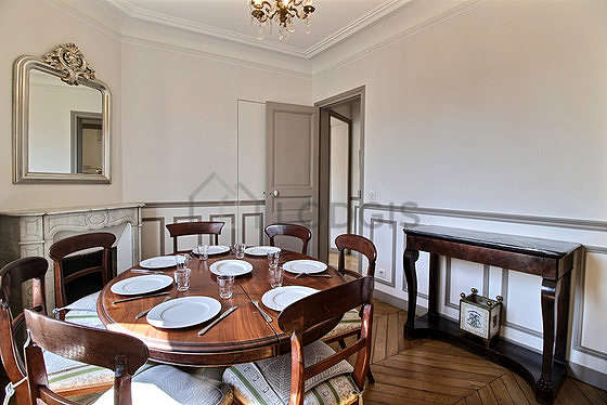 Dining room with windows