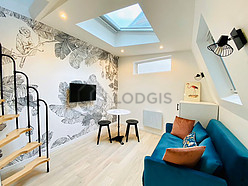 Duplex Paris 12° - Living room