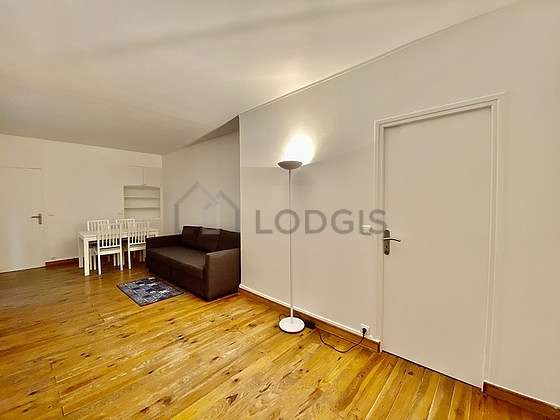 Very quiet living room furnished with 1 sofabed(s) of 140cm, sofa, wardrobe, cupboard