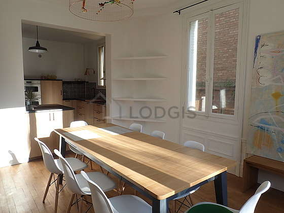 Dining room equipped with dining table, 6 chair(s), stool