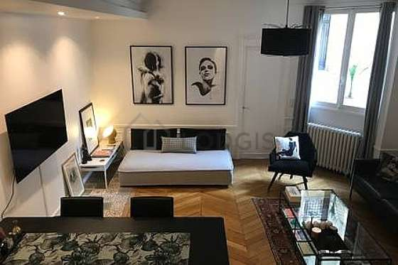 Very quiet living room furnished with air conditioning, tv, 1 armchair(s), 1 chair(s)