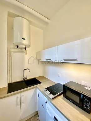 Kitchen equipped with hob
