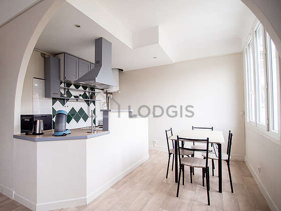 Beautiful kitchen with woodenfloor
