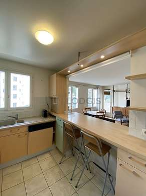 Kitchen equipped with dishwasher, freezer, oven, kettle