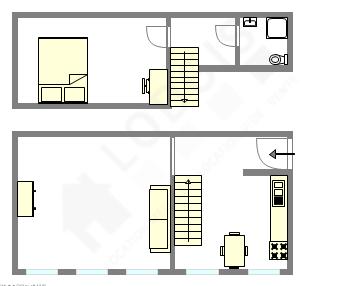 duplex Parigi 14° - Piantina interattiva