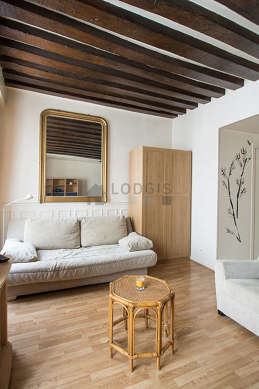 Bright sitting room of an apartmentin Paris