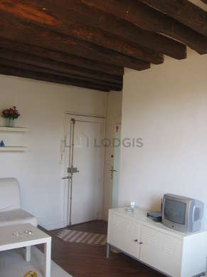 Very quiet living room furnished with 1 sofabed(s) of 120cm, tv, hi-fi stereo, 1 armchair(s)
