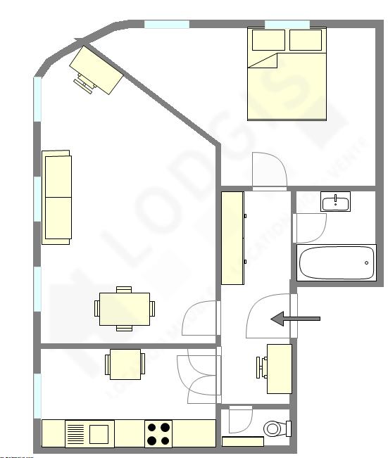Apartamento París 13° - Plano interactivo