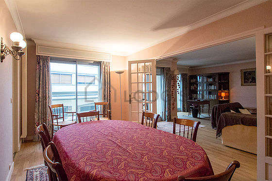 Beautiful dining room with woodenfloor for 8 person(s)