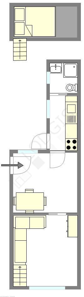 Apartment Paris 18° - Interactive plan