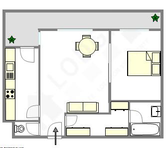 Wohnung Paris 17° - Interaktiven Plan