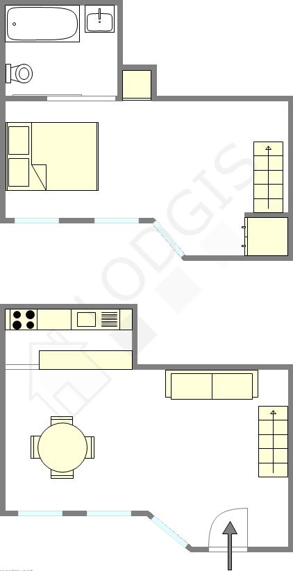 Duplex Paris 1° - Interaktiven Plan