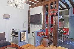 双层公寓 巴黎3区 - 客厅