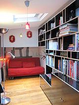 双层公寓 巴黎3区 - 图书馆