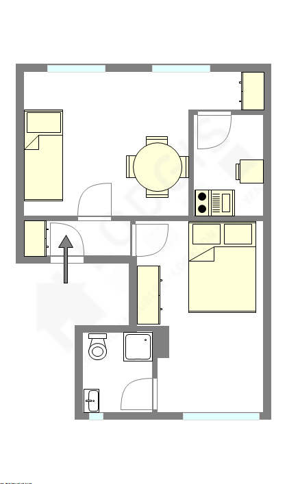 Appartamento Haut de Seine Sud - Piantina interattiva