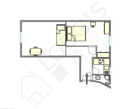 Apartment Paris 5° - Interactive plan