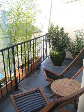 Balcony facing due north and view on road