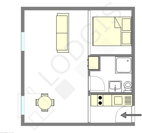 Appartamento Parigi 11° - Piantina interattiva
