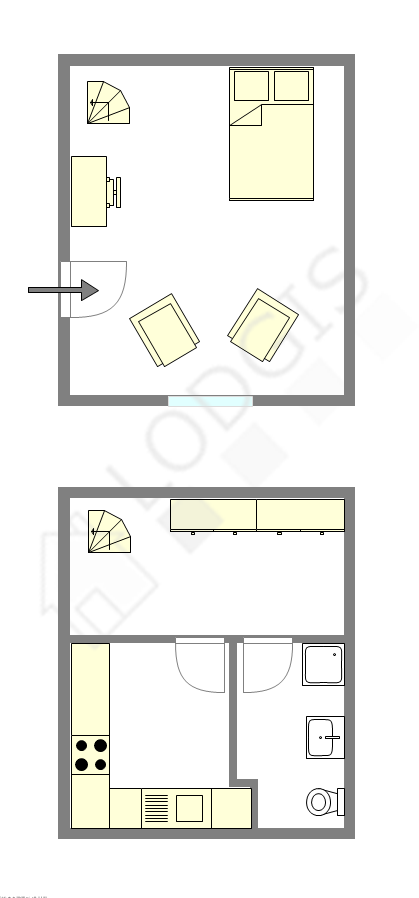 Duplex Paris 16° - Interactive plan