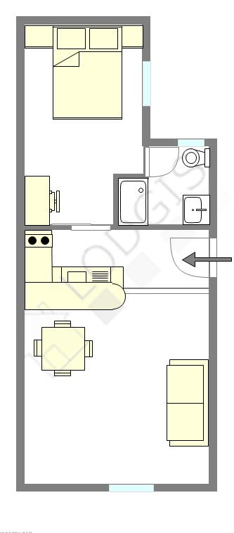 Apartamento París 11° - Plano interactivo