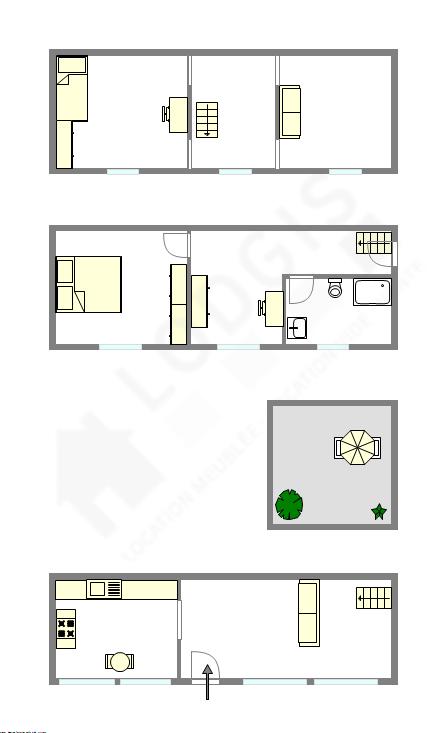 Triplex Paris 15° - Interaktiven Plan