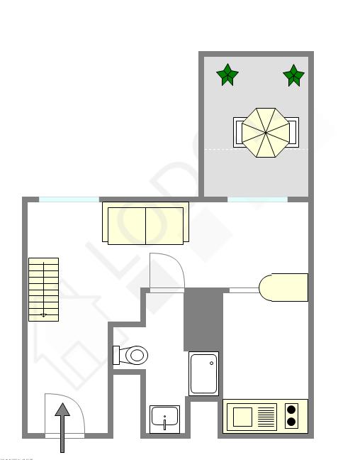 雙層公寓 巴黎4区 - 互動圖