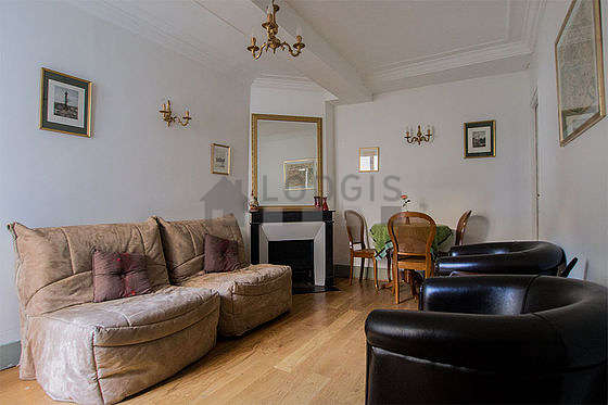 Very quiet living room furnished with 2 sofabed(s) of 90cm, tv, dvd player