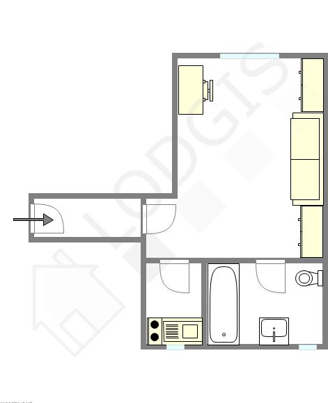 公寓 巴黎6区 - 互動圖
