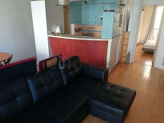 Living room furnished with tv, cupboard, 4 chair(s)