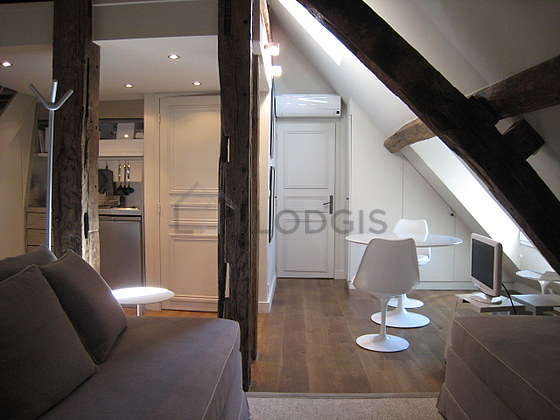 Great, quiet and bright sitting room of a duplexin Paris