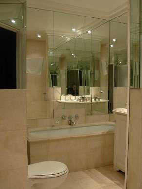 Pleasant and bright bathroom with marblefloor