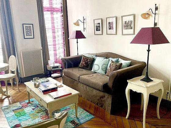 Very quiet living room furnished with 1 sofabed(s) of 120cm, tv, 2 armchair(s), 2 chair(s)