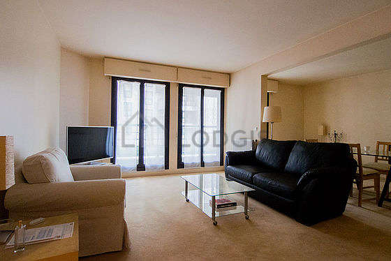 Very quiet living room furnished with 2 sofabed(s) of 140cm, tv, 1 armchair(s)