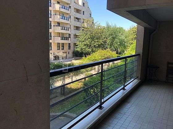 Balcony facing due north and view on garden