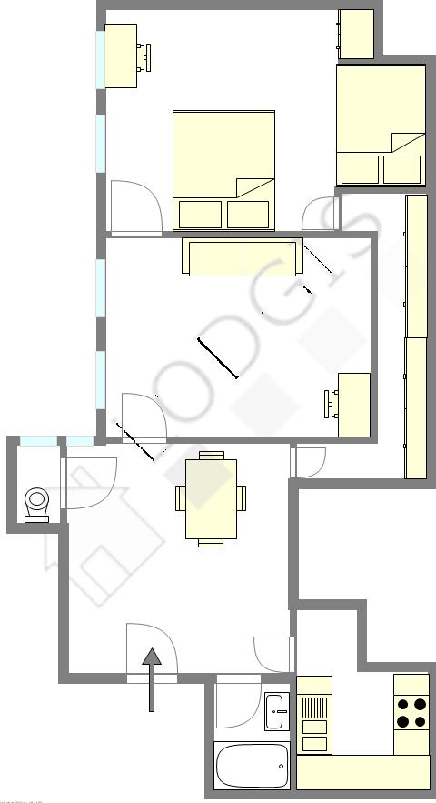 公寓 巴黎7区 - 平面图