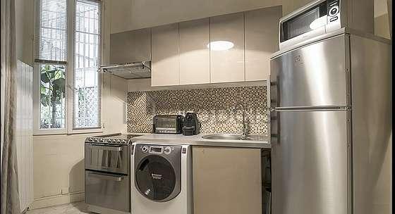Beautiful kitchen with marblefloor