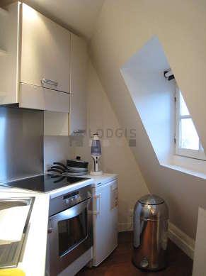 Kitchen with windows