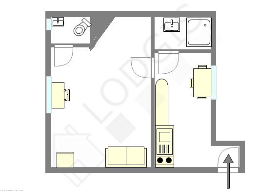 Apartamento París 6° - Plano interactivo