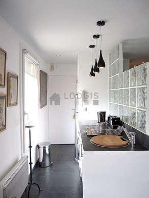 Beautiful kitchen with a slatefloor